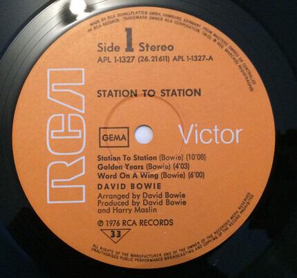 #<Artist:0x00007fcec039e0e0> - Station to Station
