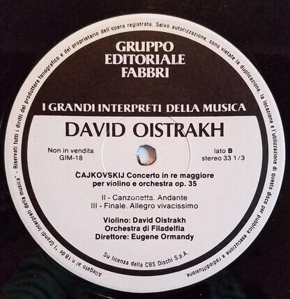 #<Artist:0x00007fcee3a2f3c8> - Concerto Per Violino E Orchestra Op. 35