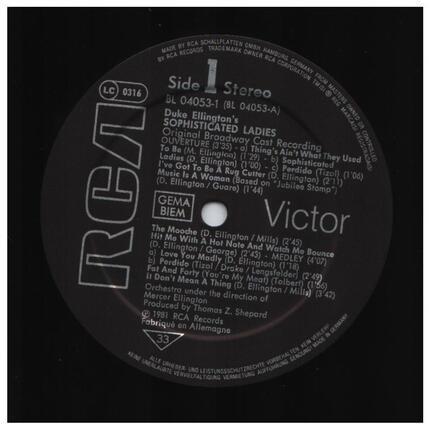 #<Artist:0x00007fcee178dcc0> - Duke Ellington's Sophisticated Ladies