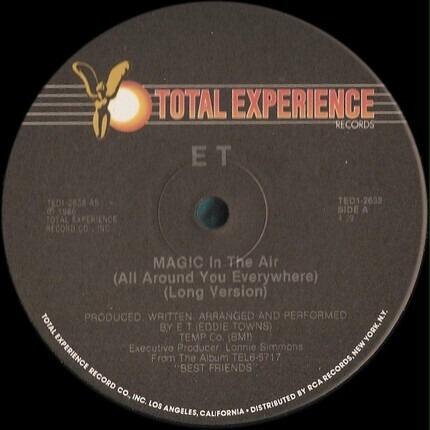 #<Artist:0x00007f51784b4a08> - Magic In The Air (All Around You Everywhere)