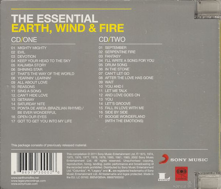 #<Artist:0x00007fcec3f87278> - The Essential Earth, Wind & Fire