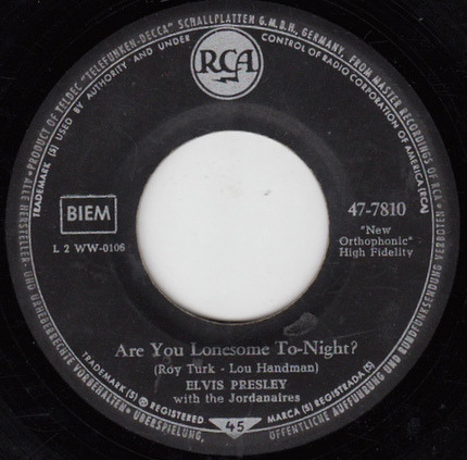 #<Artist:0x00007f508d1f96b0> - Are You Lonesome Tonight