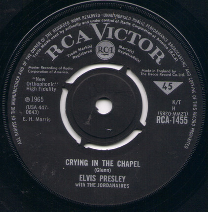 #<Artist:0x00007fcee1db0580> - Crying In The Chapel