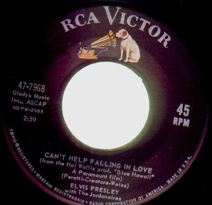#<Artist:0x00007f4a84f18ad0> - Can't Help Falling In Love / Rock-A-Hula Baby