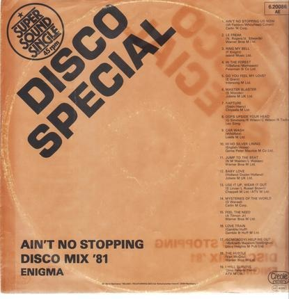 #<Artist:0x00007f219bcd0f00> - Ain't No Stopping - Disco Mix '81