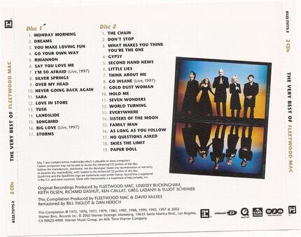 #<Artist:0x00007fceb89499e8> - The Very Best Of Fleetwood Mac