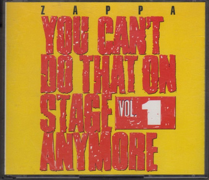 #<Artist:0x00007f4a894cb618> - You Can't Do That On Stage Anymore Vol. 1