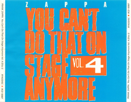 #<Artist:0x00007fb786c429b8> - You Can't Do That On Stage Anymore Vol. 4