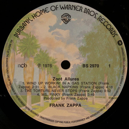 Zoot Allures Frank Zappa Vinyl Cd Recordsale