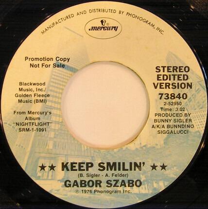 #<Artist:0x00007fcec1ee69d8> - Keep Smilin' / Baby Rattle Snake
