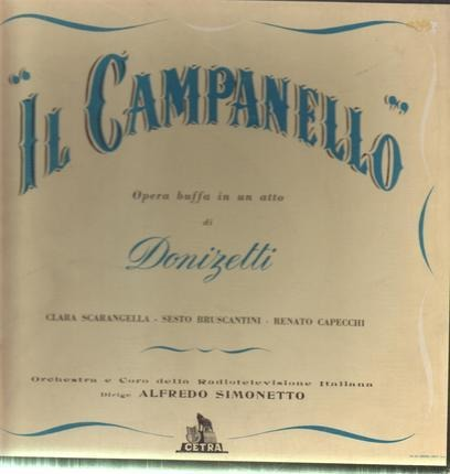 #<Artist:0x00007f5852ae4a50> - 'Il Campanello' Opera Buffa In One Act