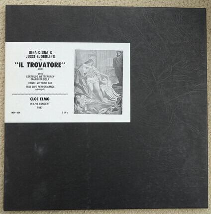 #<Artist:0x00007f73ec237e88> - Il Trovatore Live 1939 (Abridged) / Cloe Elme Live 1947