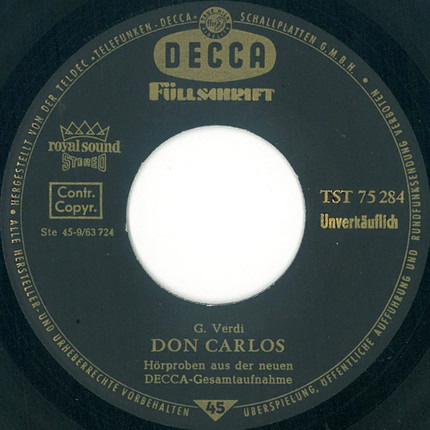 #<Artist:0x00007fcee257c3b8> - Don Carlos / Johannes Passion