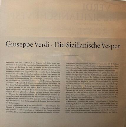 #<Artist:0x00007fcec23c68e0> - Die Sizillianische Vesper, Chor Und Symphonie-Orchester Des Hessischen Rundfunks , Dirigent: Kurt S