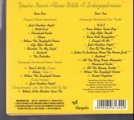 #<Artist:0x00007f83941c1398> - You're Never Alone With A Schizophrenic - 30 Anniversary Special Edition