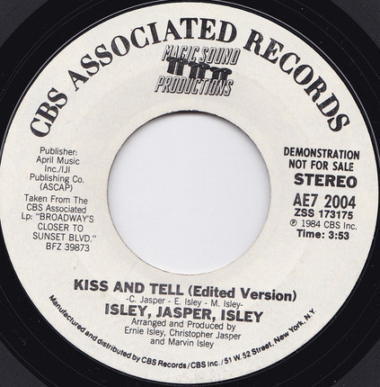 #<Artist:0x00007f412d2fcd38> - Kiss And Tell (Edited Version)
