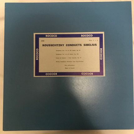 #<Artist:0x00007fce15596790> - Koussevitzky Conducts Sibelius