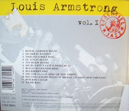 #<Artist:0x00007fcee3f912a8> - Louis Armstrong Vol. I