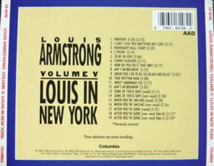 #<Artist:0x00007fcee30e2d10> - Volume V - Louis In New York