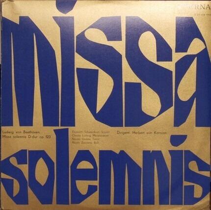 #<Artist:0x00007f12931474c0> - Missa Solemnis D-Dur op. 123