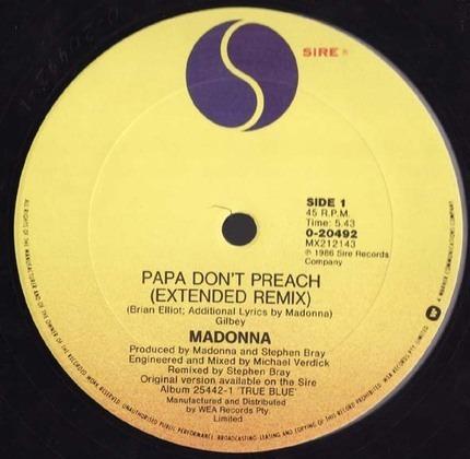 #<Artist:0x00007f05d13b0e60> - Papa Don't Preach