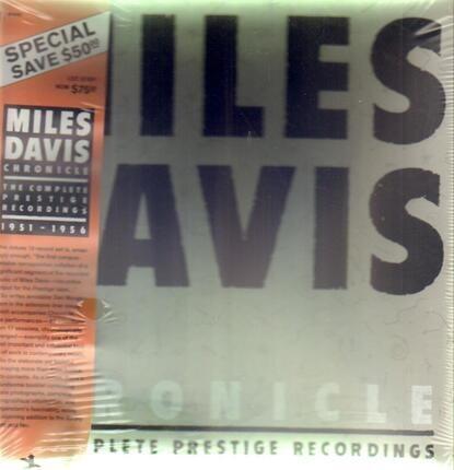 #<Artist:0x00007fa91a8cac10> - Chronicles, The Complete Prestige Recordings