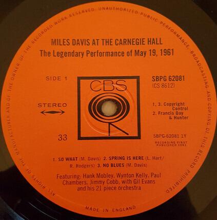 #<Artist:0x00007ff0d168b310> - Miles Davis at Carnegie Hall