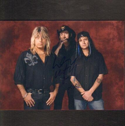 #<Artist:0x00007f56bb172f78> - Motörhead Signed Photo