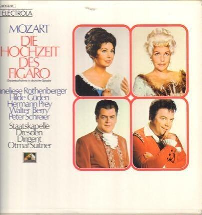 #<Artist:0x00007f410ca066b8> - Die Hochzeit des Figaro,, Staatskapelle Dresden, Otmar Suitner