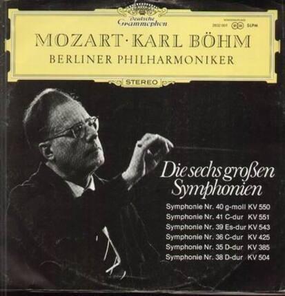 #<Artist:0x00007fa84b81add0> - Die sechs großen Symphonien, Karl Böhm, Berliner Philharmoniker