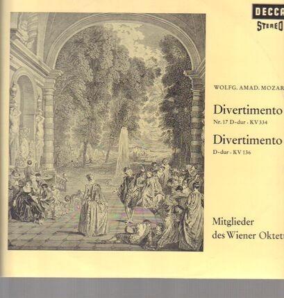 #<Artist:0x00007f38c0818d78> - Divertimento Nr.17 D-dur, KV 334 & D-dur, KV 136,, Mitglieder des Wiener Oktetts