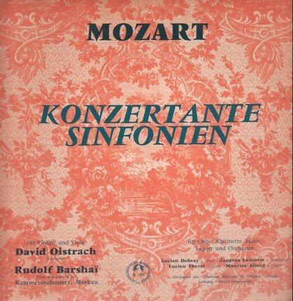 #<Artist:0x00007f1c5ab380a8> - Konzertante Sinfonien,, David Oistrach, Rudolf Barshai, Kammerorch Moskau