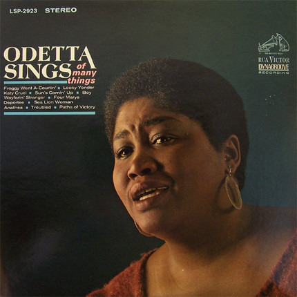 #<Artist:0x00007fce17202960> - Odetta Sings of Many Things