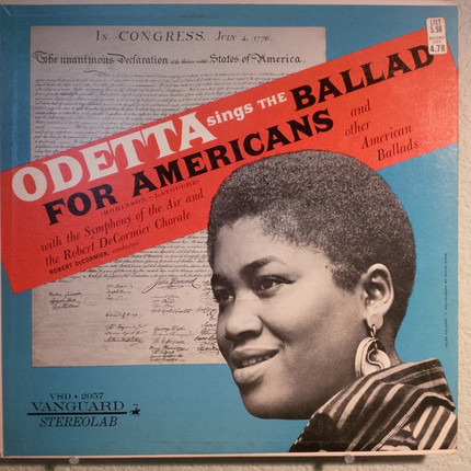 #<Artist:0x00007fce32b21210> - Odetta Sings The Ballad For Americans And Other American Ballads