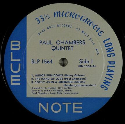 #<Artist:0x00007fcec05ebac8> - Paul Chambers Quintet