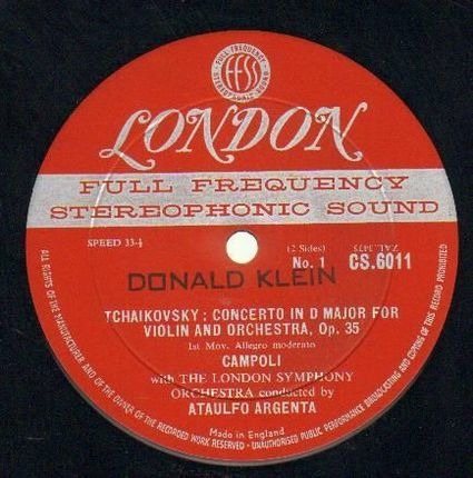 #<Artist:0x00007fcee3acf800> - Tchaikovsky: Concerto In D Major For Violin And Orchestra, Op. 35