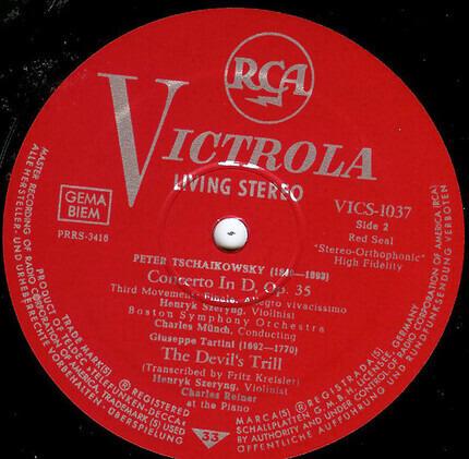 """#<Artist:0x00007fcee24620e0> - Violin Concerto In D - """"Devil's Trill"""" Sonata"""
