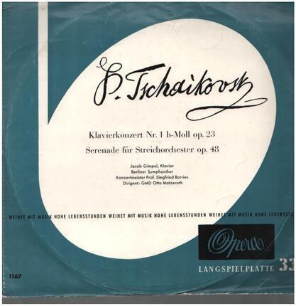 #<Artist:0x00007f740e4333c8> - Klavierkonzert Nr. 1 B-Moll Op. 23 / Serenade Für Streichorchester Op. 48