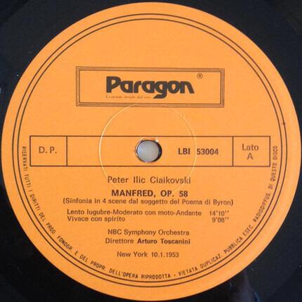 #<Artist:0x000000000803c1b0> - Manfred Op. 58 (Sinfonia In 4 Scene Dal Soggetto Del Poema Di Byron)