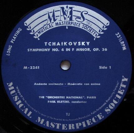 #<Artist:0x00007fcee23df140> - Vierte Sinfonie In F-Moll Op.36 / Symphonie No 4 En Fa Mineur