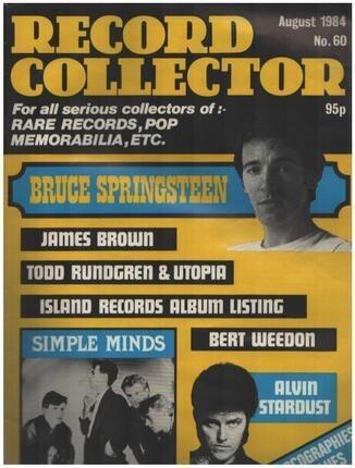 #<Artist:0x00007f0f04c46cc8> - No.60 / AUG. 1984 - Bruce Springsteen