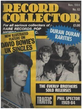 #<Artist:0x00007f3e69cb4d60> - No.63 / NOV. 1984 - David Bowie