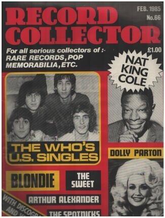 #<Artist:0x00007f54a454be10> - No.66 / FEB. 1985 - The Who