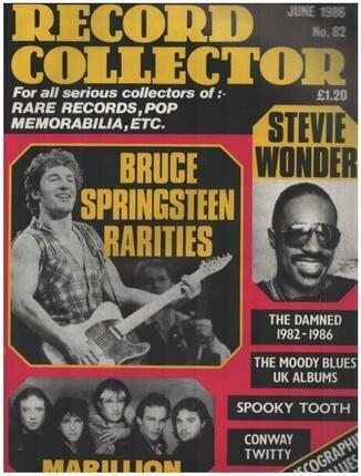 #<Artist:0x00007fc44012f8e8> - No.82 / JUN. 1986 - Bruce Springsteen
