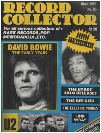 #<Artist:0x00007f33a9f6dc70> - No.85 / SEP. 1986 - David Bowie
