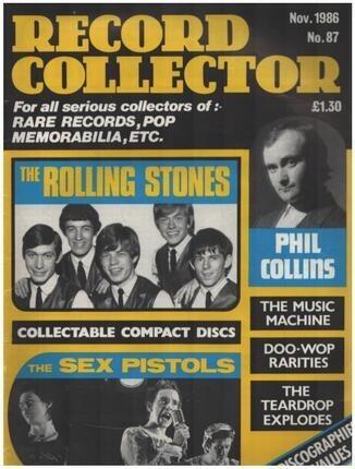 #<Artist:0x00007f1db508d250> - No.87 / NOV. 1986 - The Rolling Stones