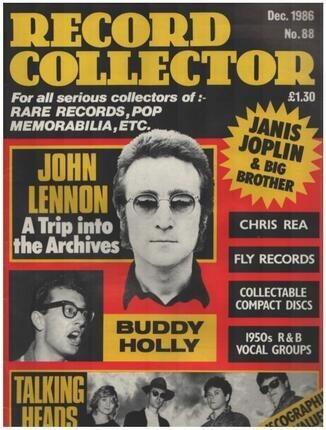 #<Artist:0x00007f371c2e0fb8> - No.88 / DEC. 1986 - John Lennon