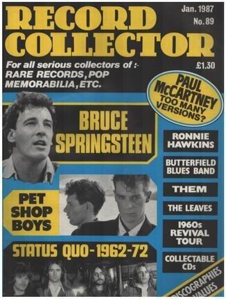 #<Artist:0x00007ff5405e3ca0> - No.89 / JAN. 1987 - Bruce Springsteen