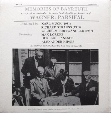 #<Artist:0x00007f04c93ebe38> - Memories Of Bayreuth (Excerpts From Outstanding Bayreuth Festival Public Performances Of Wagner: Pa