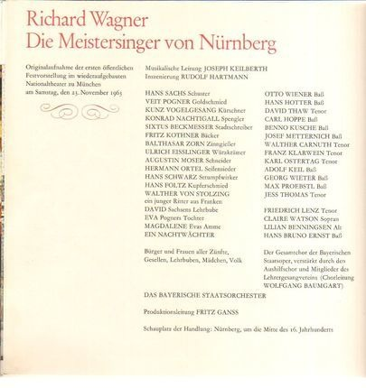#<Artist:0x0000000008acf280> - Die Meistersinger von Nürnberg